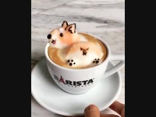Декор кофе, невероятно красивый!