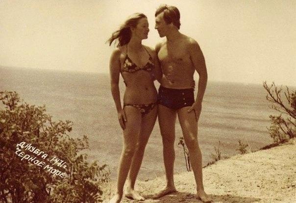 Владимир Высоцкий и Марина Влади в Джубге, 1971 год