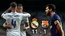 Real Madrid 11 - 1 Barcelona El Clasico 2017 La Liga Cardia Messi vs Ronaldo