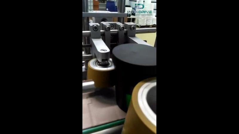 Нанесение этикетки на конусообразную тару (видео от клиента)