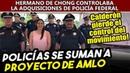 Elementos de la Policía Federal envían video a Obrador dan la espalda Calderón