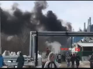 Крупный пожар на приморском авиационном заводе «Прогресс», который производит боевые вертолёты Ка-52