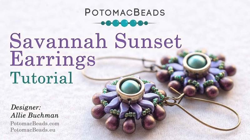 Savannah Sunset Earrings Beadweaving Tutorial