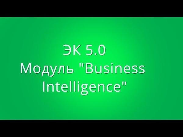 ЭК 5.0. модуль Busines Intelligence, раздел Знакомство с системой BI