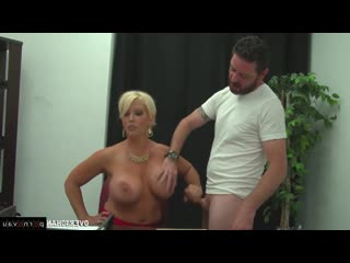 Alura jenson [ masturbation &  mothers &  big boobs &  mature &  blondes / milkings , boobs , jerking off , cumshot on chest , j