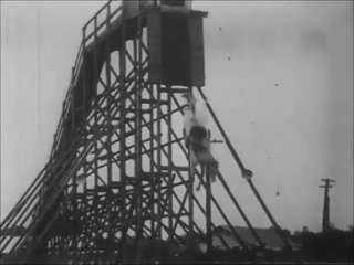 Stunt Horses - Horses Dive from High Platform At Racing Carnival - 1920's Silent Action| History Porn