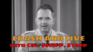 CRASH AND LIVE  1950s DRIVER'S EDUCATION FILM w/ COL. JOHN PAUL STAPP CAR ACCIDENTS 90734