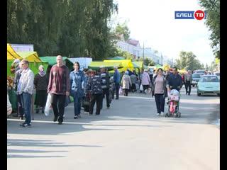 В Ельце прошла торговая ярмарка в честь Дня железнодорожника
