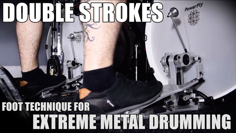 DOUBLE STROKES TECHNIQUE HEEL-TOE [Extreme Drumming]