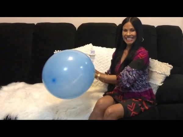 Light and Dark Blue NRL Balloons 🎈 Blowing and Popping Two Balloons ft. Sit to Pop!!