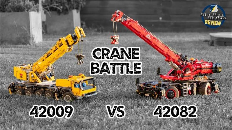LEGO Technic Crane Battle - 42009 Mobile Crane MK II vs 42082 Rough Terrain Crane