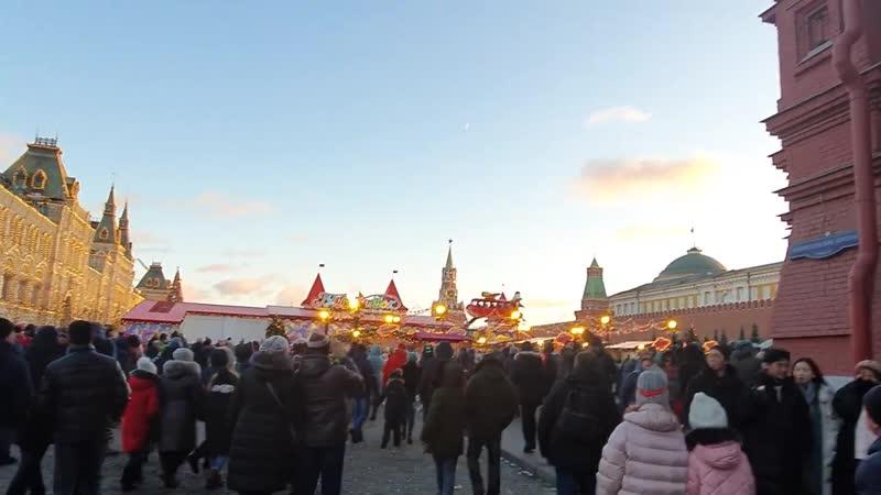 Christmas Walking In Moscow Red Square New Years Moscow 2020. Новогодняя Москва Красная Плошадь 2020
