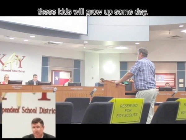 Man confronts Superintendent about Bullying in Katy ISD public schools.
