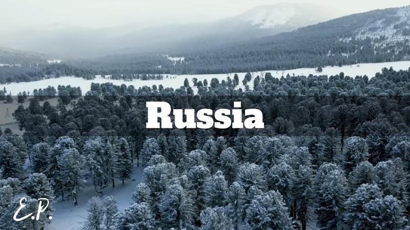Winter in Russia Altai Mountains