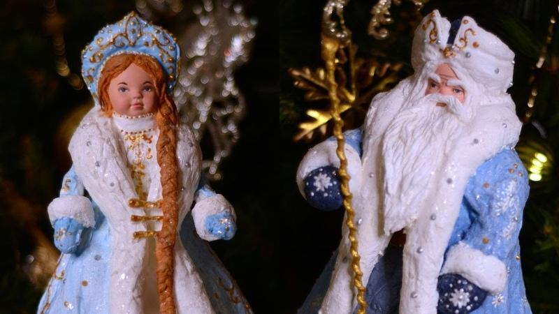 Дед Мороз и Снегурочка из дешевых китайских кукол Розыгрыш Как сделать деда Мороза из ваты