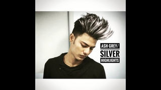 Silver Ash/Platinum Blonde Highlights II Men's Hairstyle II 200 Subs Special