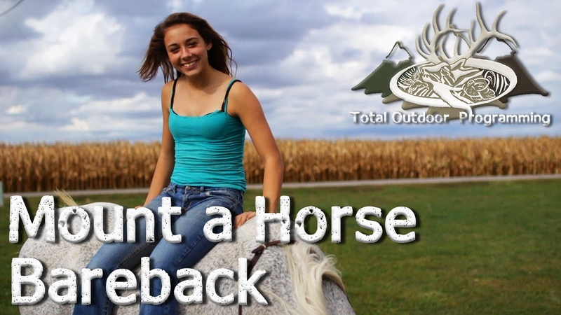 How to mount a horse bareback - Horse care and riding tips with Chey Ep. 8