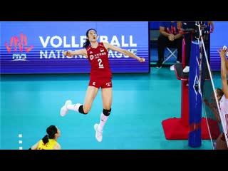 Amazing Volleyball Actions by Ting Zhu - VNL 2019 (HD)