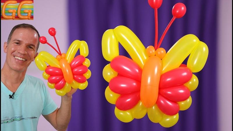 GLOBOFLEXIA MARIPOSA como hacer figuras con globos balloon butterfly gustavo gg