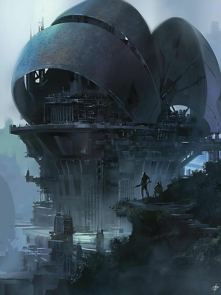 sci fi art - 736×981