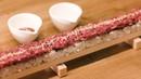 全部食べられるかな?🤔 ユッケ寿司