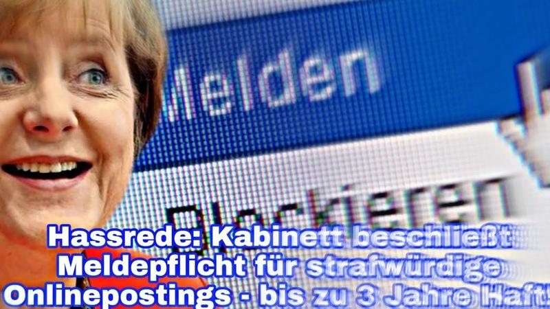 Hassrede Kabinett beschließt Meldepflicht für strafwürdige Onlinepostings bis zu 3 Jahre Haft