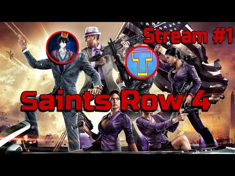 Стрим Угар! Saints Row 4 - часть 1 Teleport Games и Trevo Channel