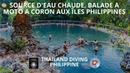 Source d'eau chaude, balade a moto a coron aux îles philippines avec Thailand Diving Pattaya Club