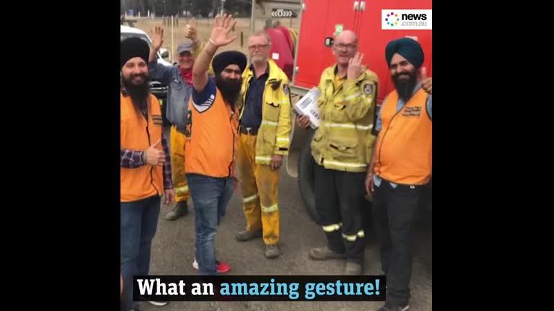 Australian sikhs volunteers