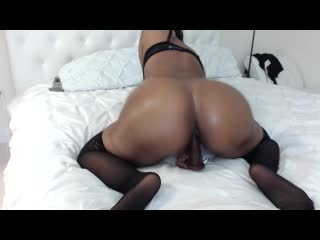 Katt leya fucks herself with dildo stockings big ass butts booty tits boobs bbw pawg curvy mature milf