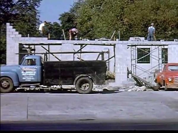 Construction Of New Texaco Station 1953