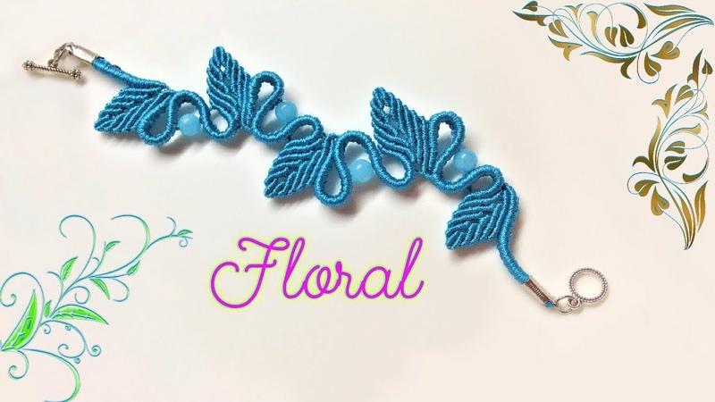 Macrame bracelet tutorial The Floral Elegant macrame pattern Thắt dây vòng tay họa tiết hoa