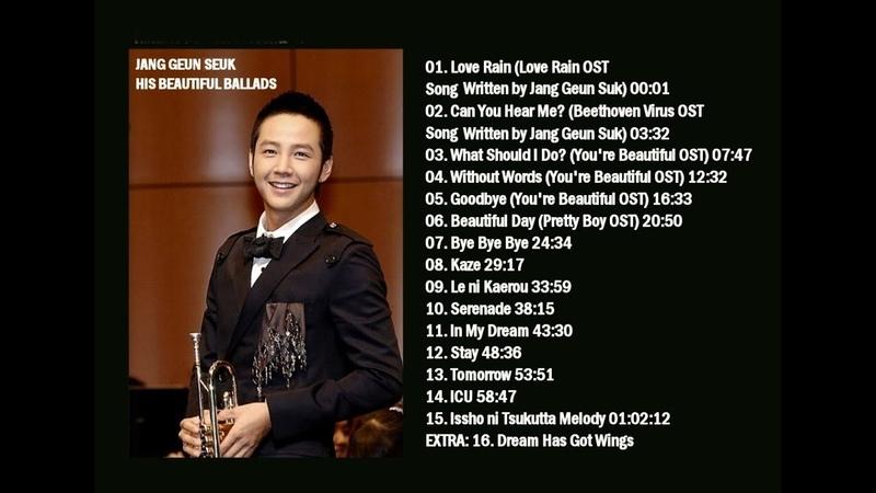 Jang Geun Seuk - His Beautiful Ballads - 1 Hour Korean Drama OST Songs