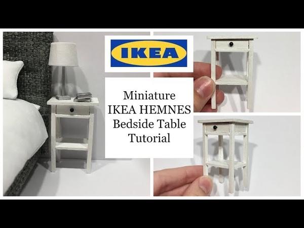 Miniature IKEA HEMNES Bedside Table Tutorial