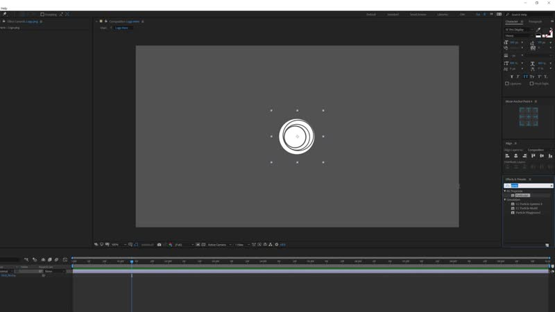 After Effects Tutorial - Particle Burst Logo Animation in After Effects - Trapcode Particular