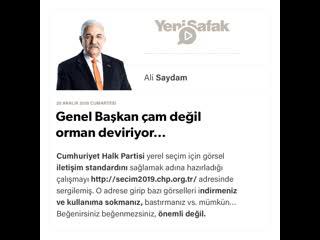 Ali Saydam - Genel Bakan am deil orman deviriyor -