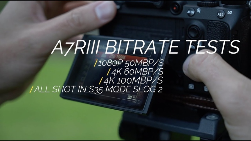 Sony A7r3 Internal Bitrate Comparison