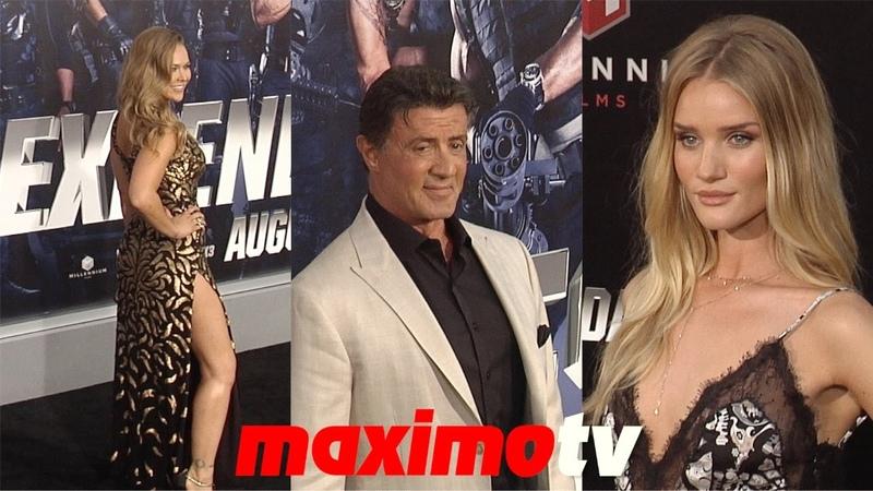 The Expendables 3 LA Premiere Sylvester Stallone, Ronda Rousey, Jason Statham, Dolph Lundgren