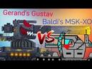 Gerand's Gustav Dora VS Baldi's MSK XO flipaclip animation