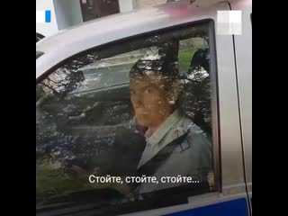 Погоня за инспектором ДПС в Тюмени