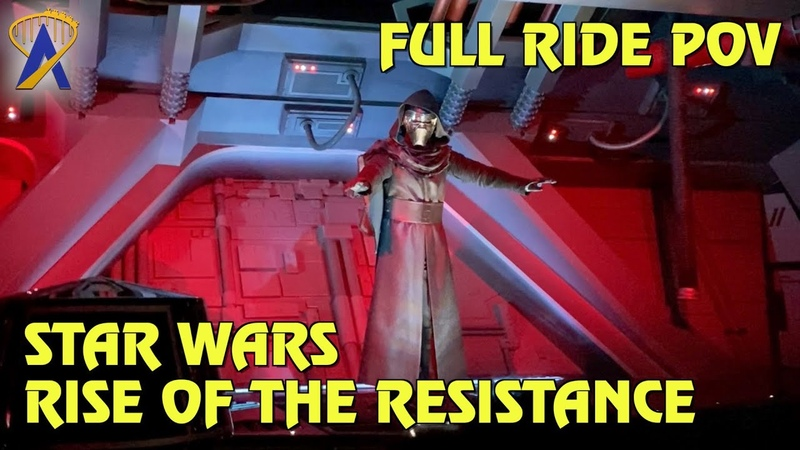 Full Ride Through Star Wars Rise of the Resistance POV at Star Wars Galaxy's Edge