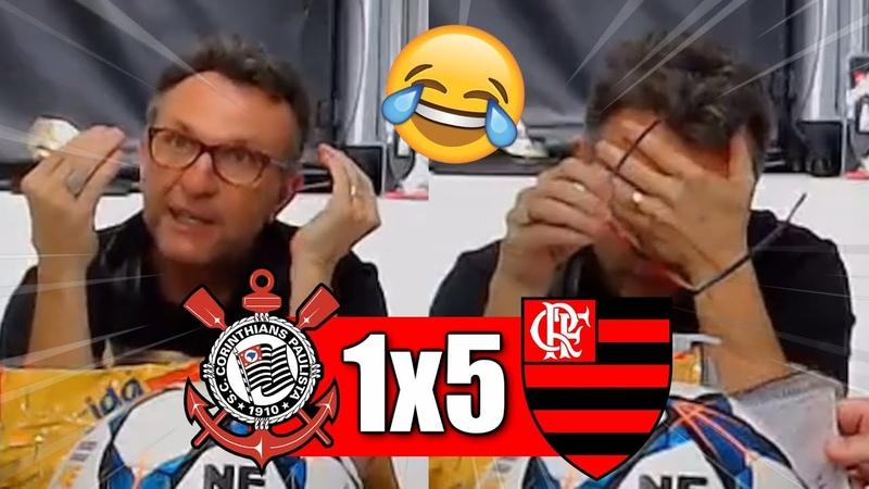 VAMOS RIR! Rea ões do Neto ao Flamengo goleando o Corinthians!
