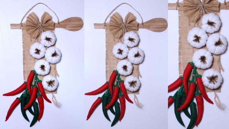 Popsicle stick crafts ideas / wall hanging / hiasan dinding dari stik es krim dan kain flanel