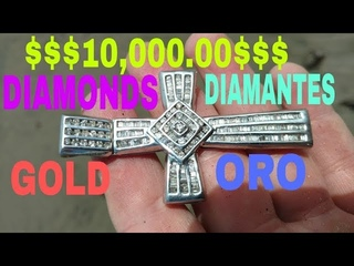 Incredible GOLD & DIAMOND Treasure Cross FOUND! Increible Tesoro Cruz de ORO y DIAMANTE encontramos!