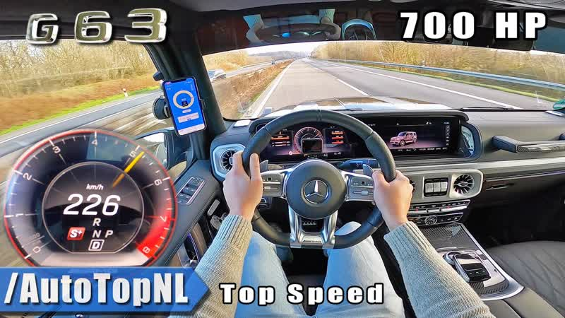 Mercedes AMG G63 700HP MANHART TOP SPEED on AUTOBAHN NO SPEED LIMIT by AutoTopNL 2160p 60fps VP9 128kbit AAC