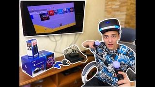 Распаковка VR Sony PlayStation + Move controllers ПОГРУЖАЕМСЯ в Виртуальную РЕАЛЬНОСТЬ