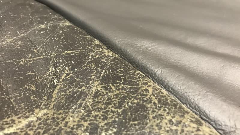 Чистка, ремонт, покраска подушки кожаного дивана 5050.