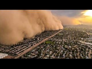 Стена пыли накрыла город в Техасе ( 5 июн. 2019 г.)