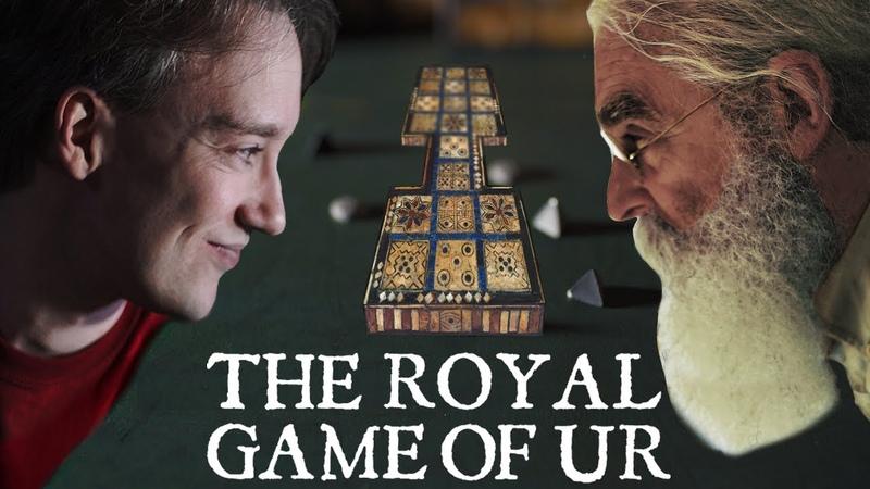 Tom Scott vs Irving Finkel The Royal Game of Ur   PLAYTHROUGH   International Tabletop Day 2017