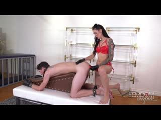 Femdomempire.com - marley brinx - filthy cock slut [femdom, strapon pegging, latex chastity, stockings, bondage, anal fingering]